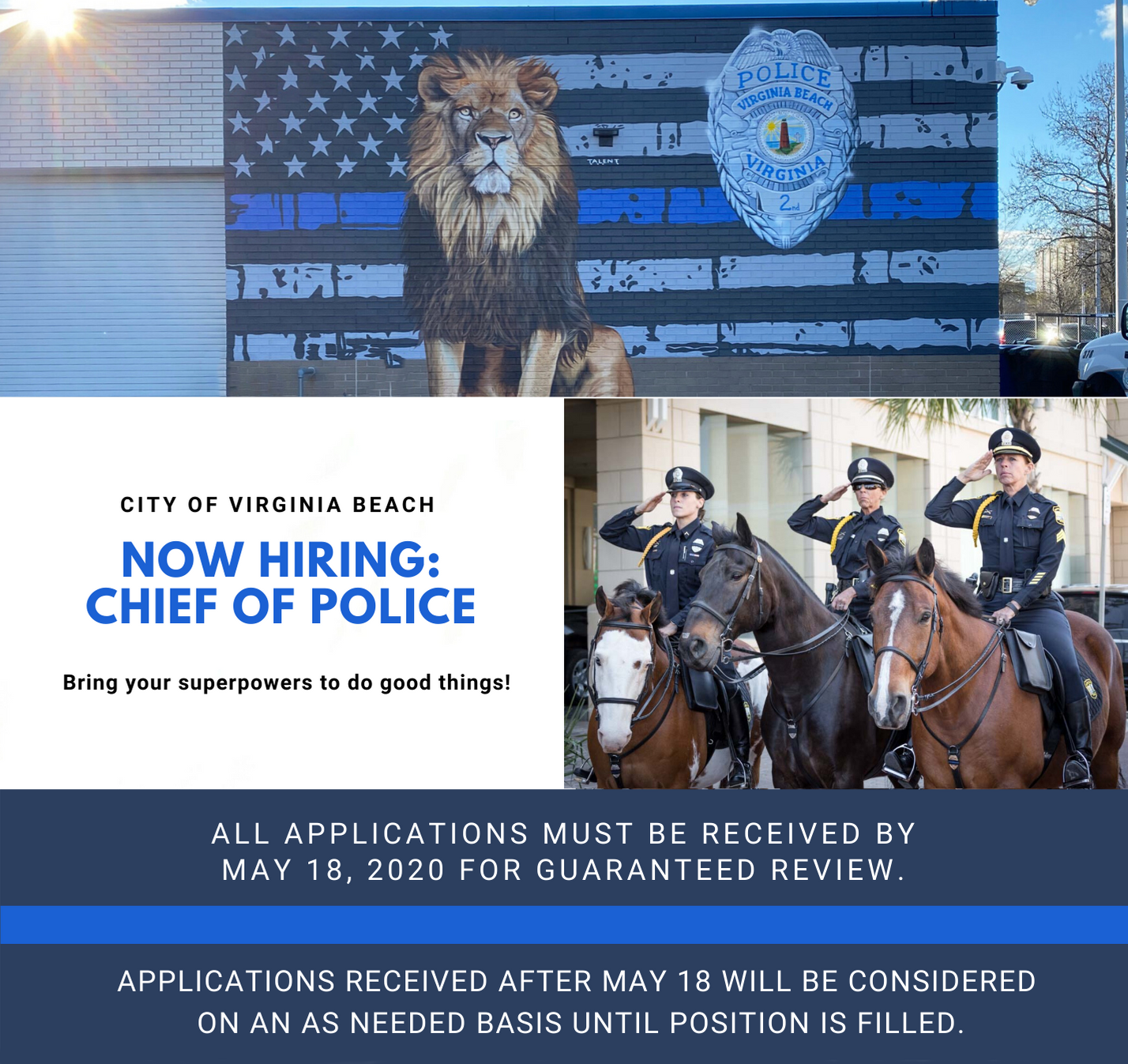 We're Hiring: Chief of Police