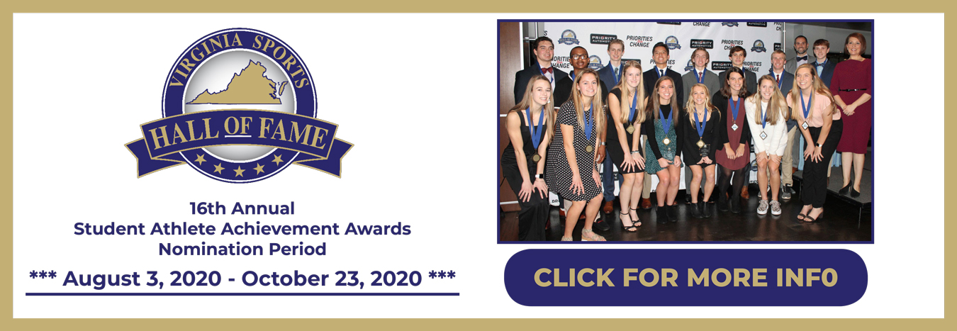Virginia Sports Hall of Fame Accepting Nominations for Student-Athlete Scholarship Awards