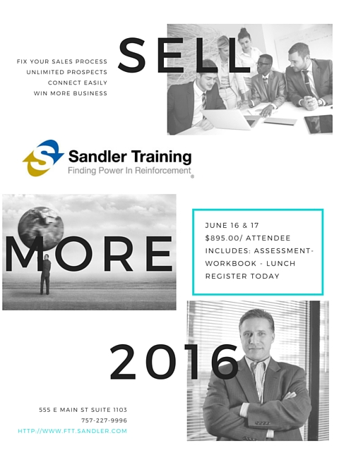 Sandler Sales Bootcamp 2016