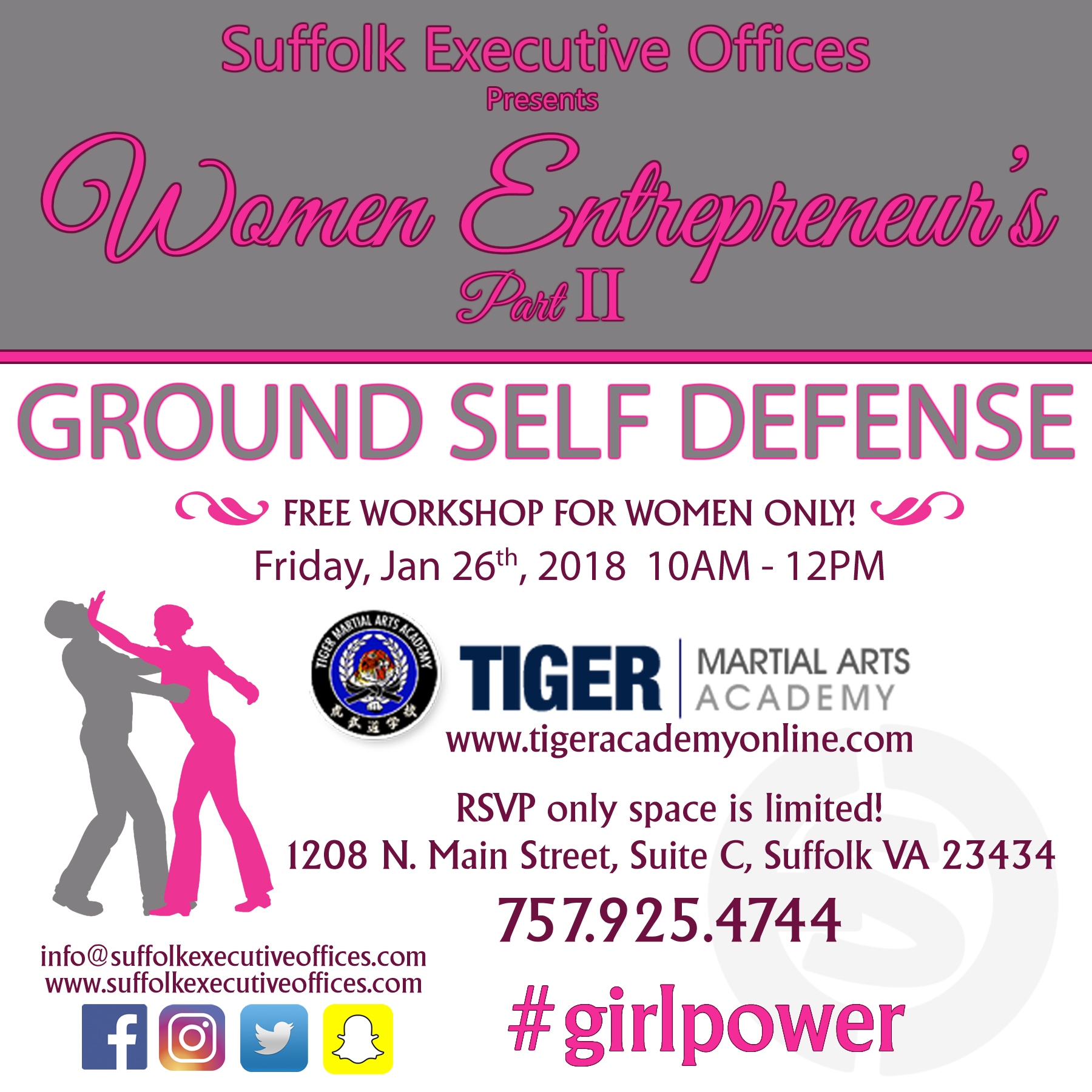 Women Entreprenuer's Self Defense Workshop