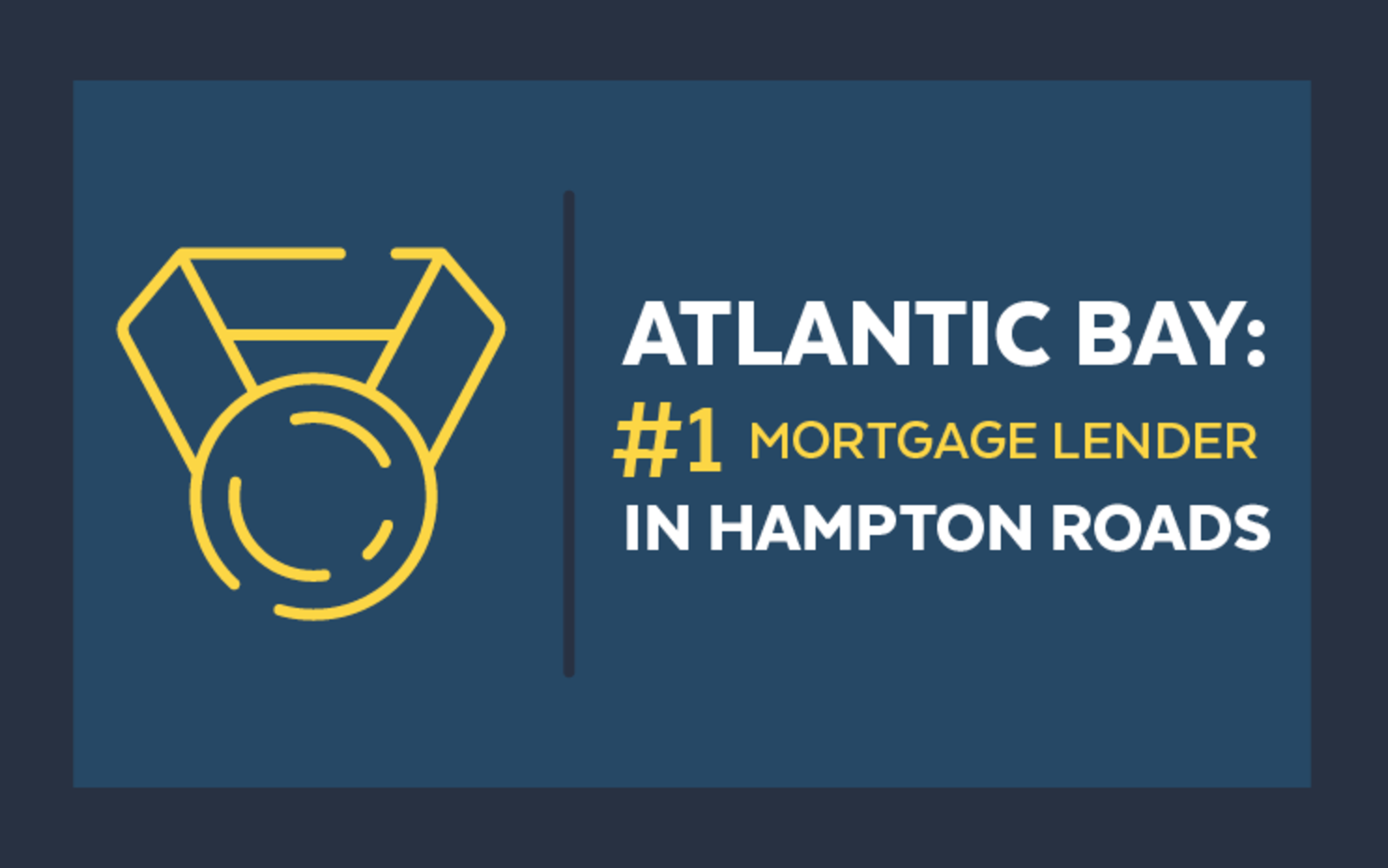 Atlantic Bay Mortgage Group Ranks #1 Mortgage Lender in Hampton Roads for Two Years in a Row