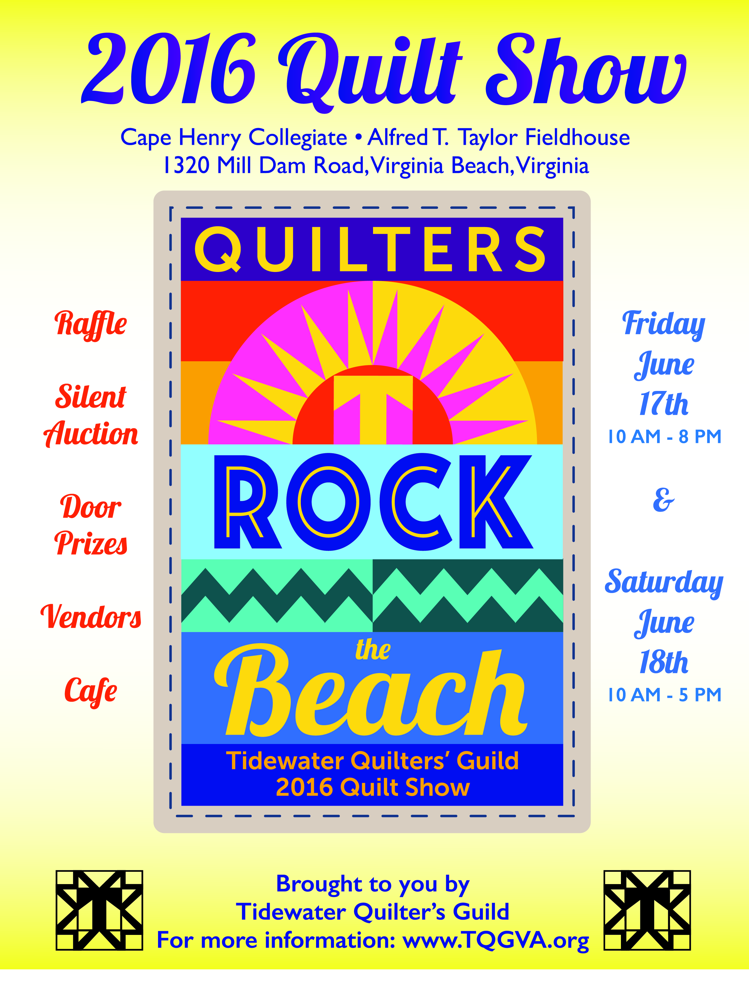 Quilters Rock the Beach