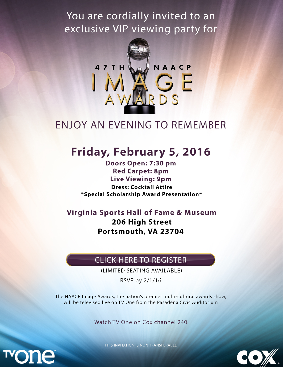 Cox to Host NAACP Image Awards Watch Party