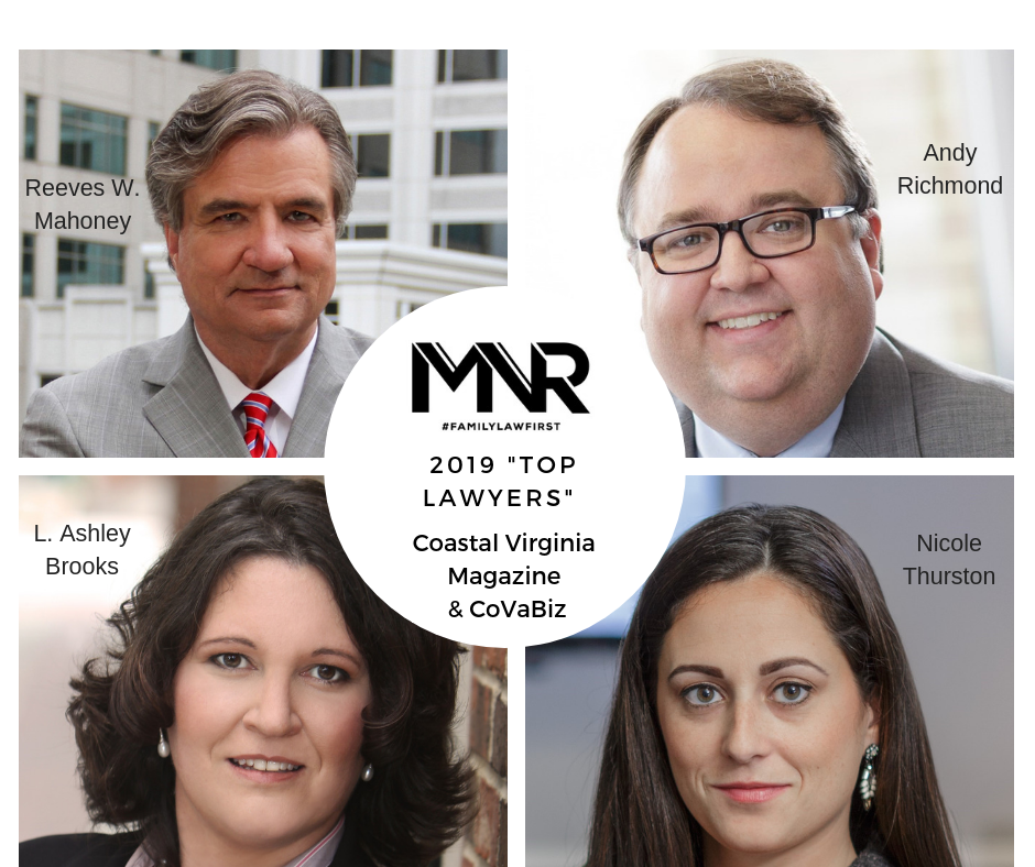 MNR Law Attorneys Make 2019 Coastal Virginia Magazine and CoVABIZ Top Lawyers' List