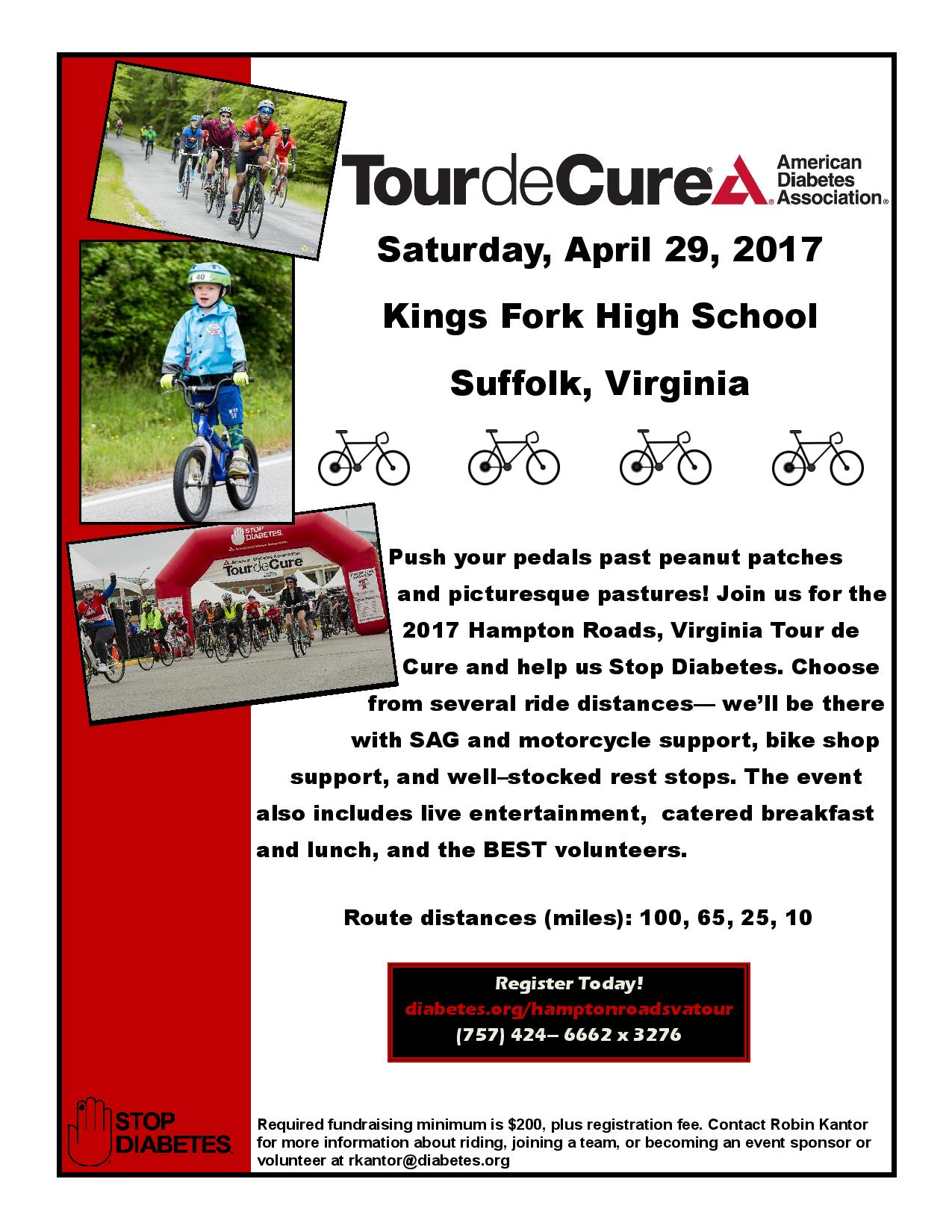Join us at the 2017 Tour de Cure!