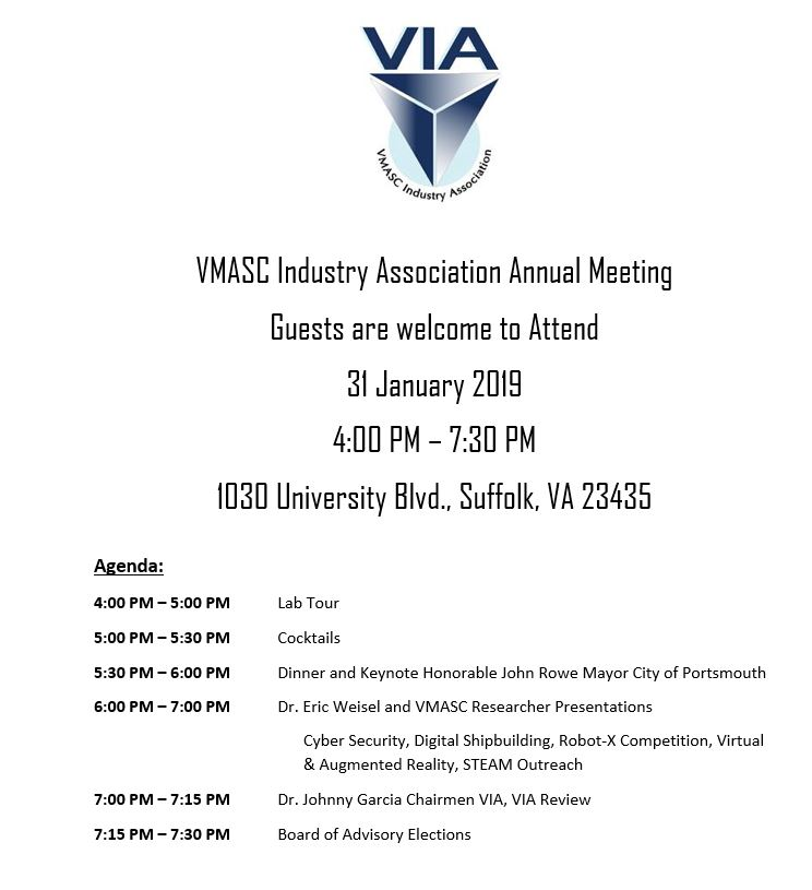 VMASC Industry Association Annual Meeting