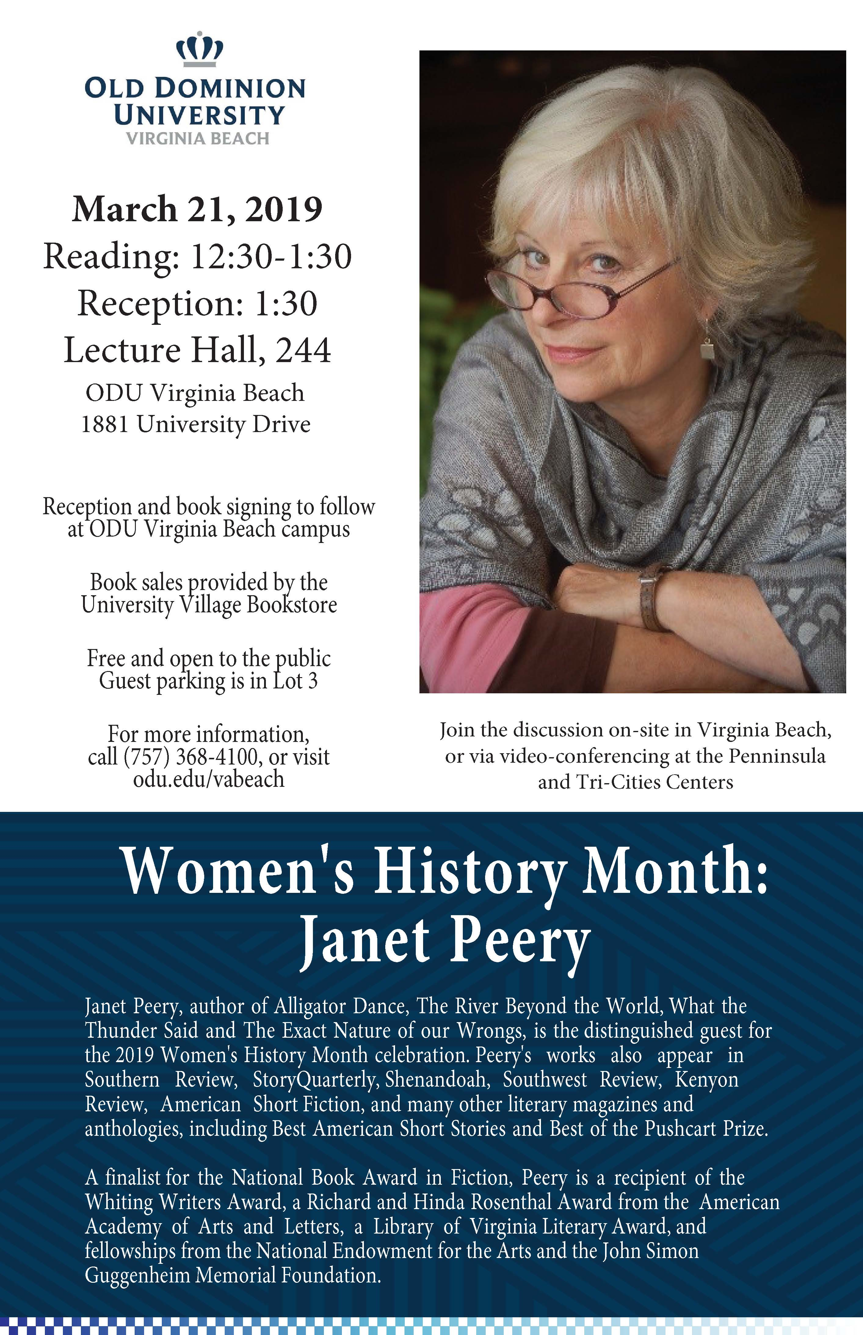 Janet Peery Reading-March 21