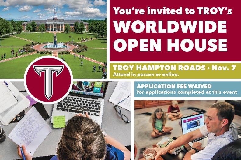 Troy University Worldwide Open House: Nov 7