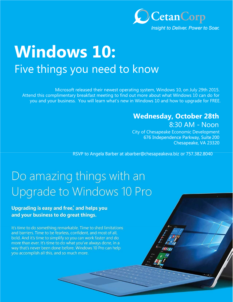 Windows 10:  Five Things You Need To Know