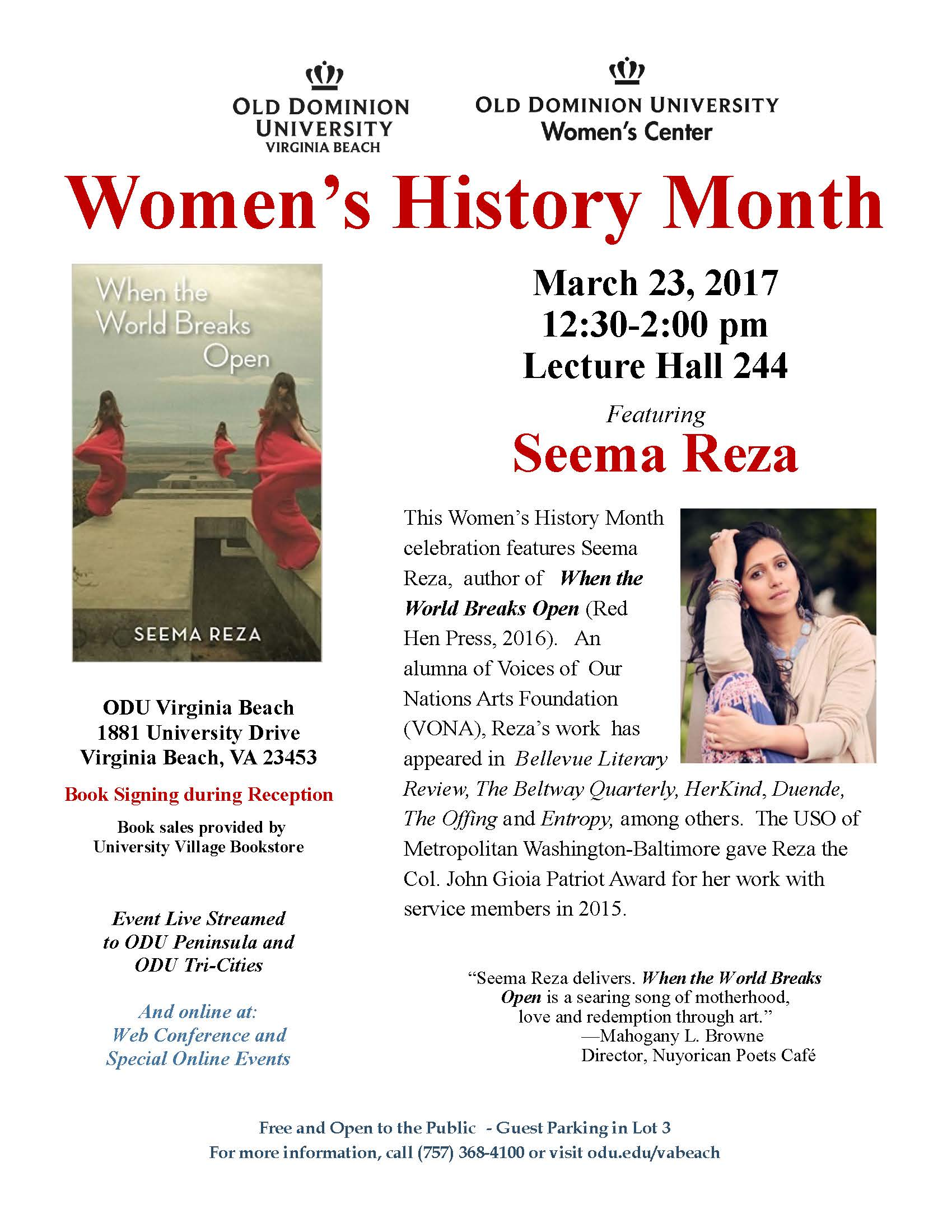Women's History Month-When the World Breaks Open