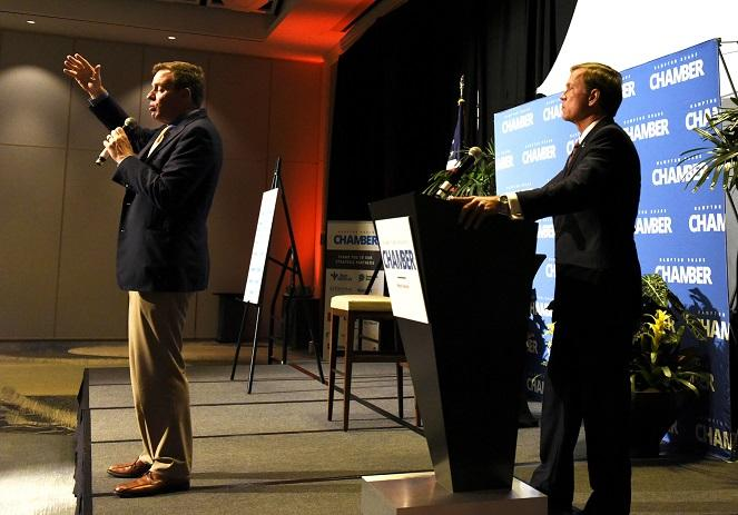 Senator Mark Warner Addresses Hampton Roads Business Leaders at 2017 Senatorial Forum