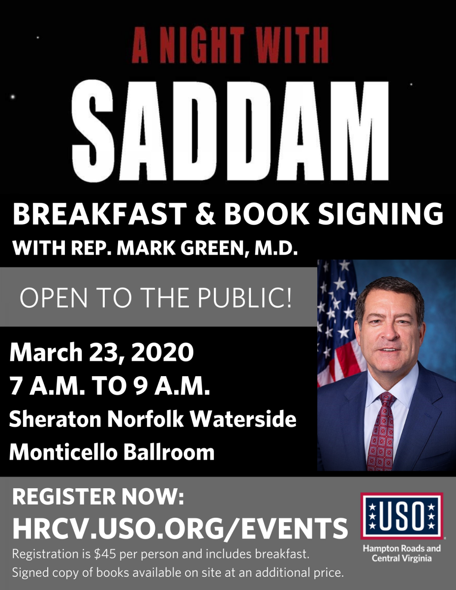 USO Breakfast and Booksigning Event on March 23, 2020