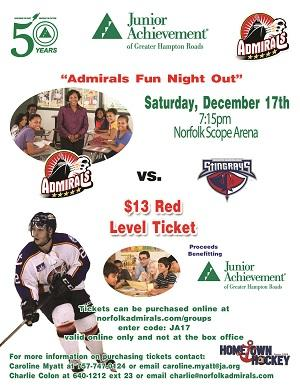 Admirals Night Out with Junior Achievement