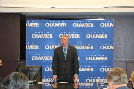 Republican Gubernatorial Candidate Ed Gillespie speaks to Hampton Roads Chamber