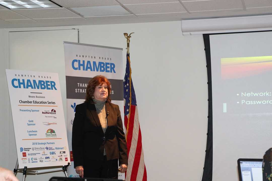 The January Chamber Education Series presented Susan Long-Molnar with Social Media Tips and Techniques to Increase your ROI