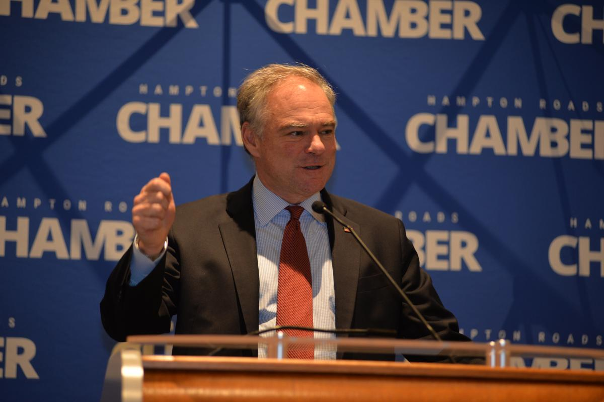 Senator Tim Kaine Addresses Hampton Roads Chamber at Chamber Leadership Series Event