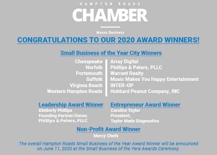 2020 Small Business of the Year Winners Announced