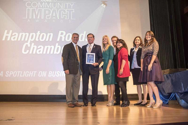 Hampton Roads Chamber Receives CoVa Biz Community Impact Award