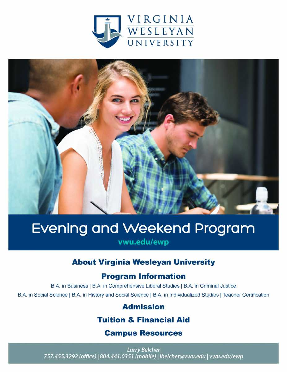 Virginia Wesleyan University Offers Evening and Weekend Programs