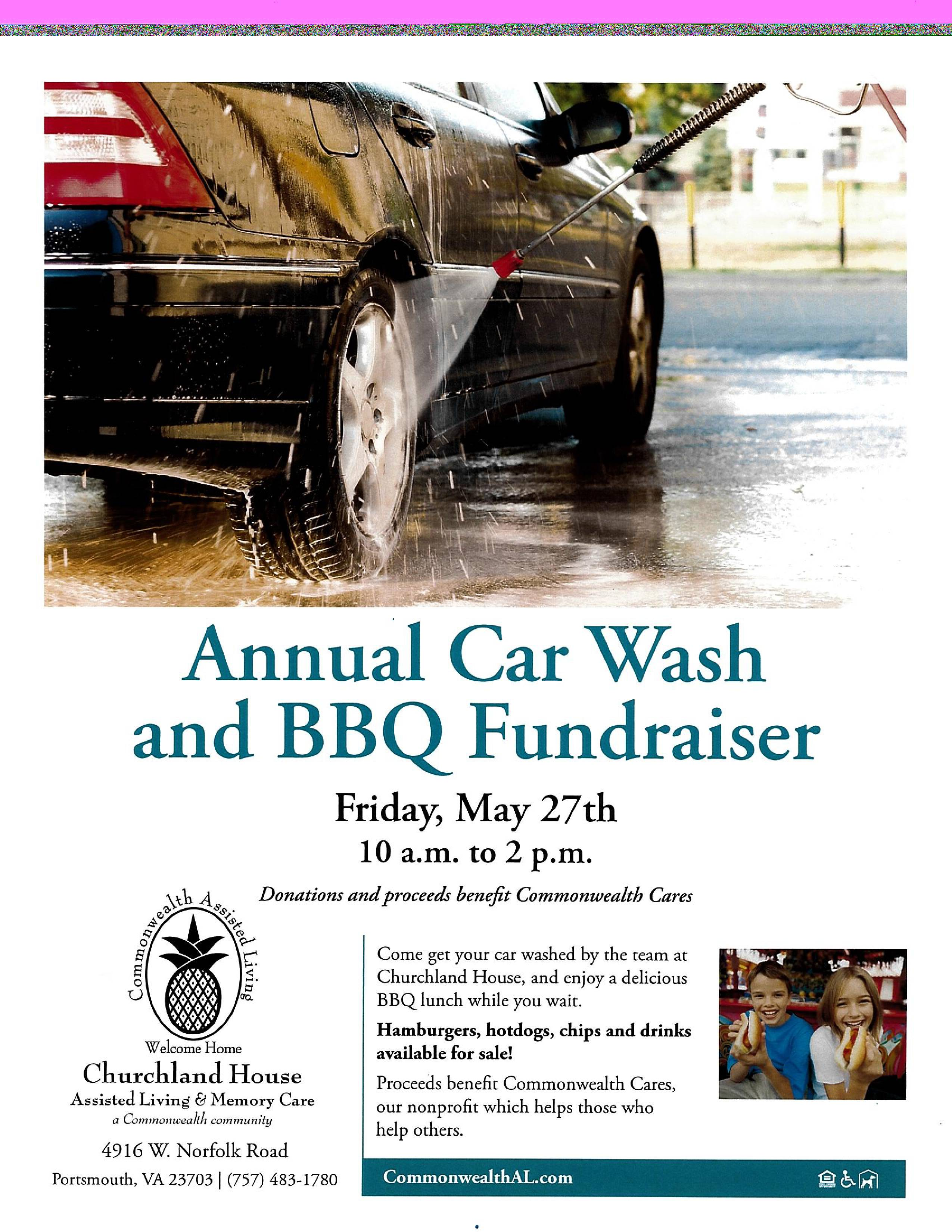 Annual Car Wash and BBQ Fundraiser