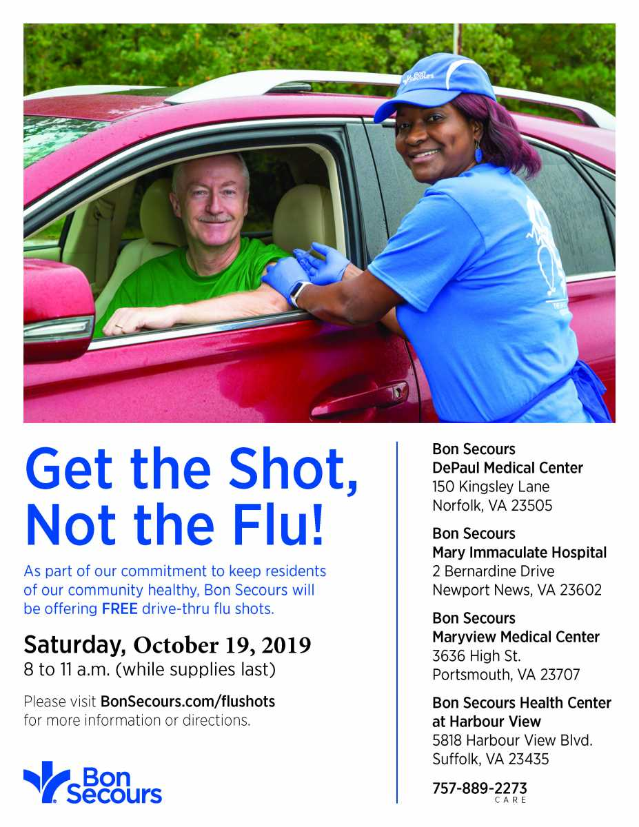 Free Flu Shots On October 19, 2019!