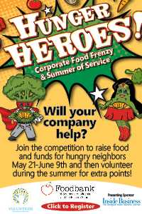 The Foodbank of Southeastern Virginia and the Eastern Shore and VOLUNTEER Hampton Roads Launch Hunger Heroes Corporate Food Frenzy & Summer of Service