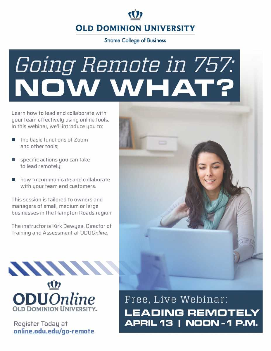 ODU Presents: Going Remote in the 757