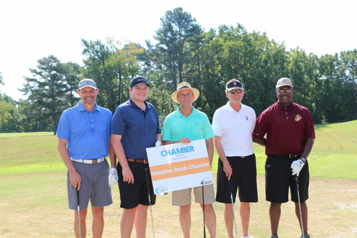 Old Dominion University places first in Chamber Golf Outing - Gives prize money to Wounded Warrior Foundation