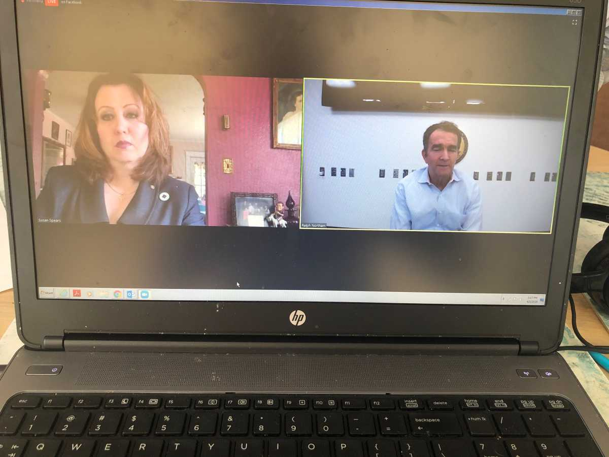 Governor Northam Answers Chambers' Questions During Live Video Conference