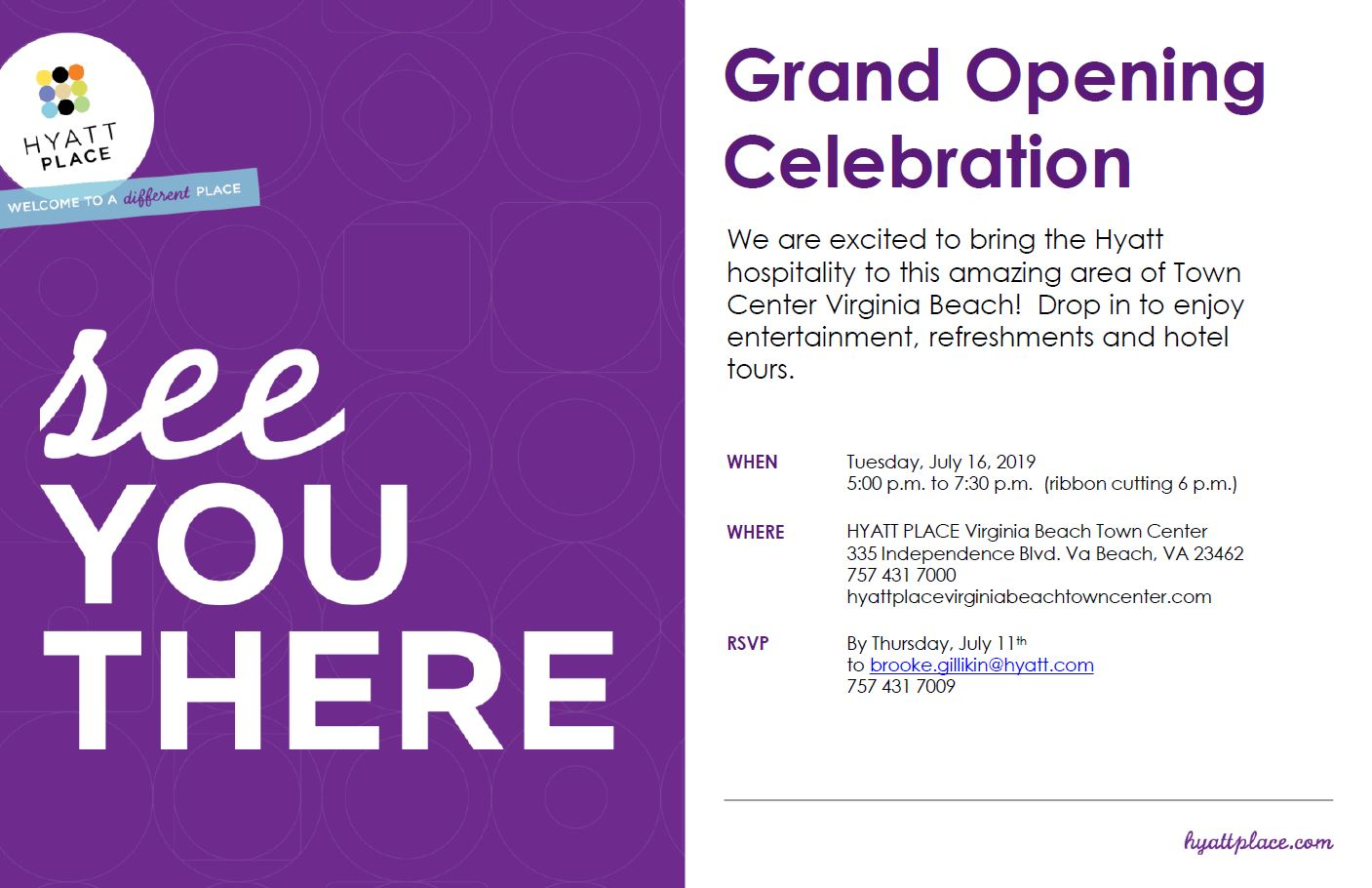HR Chamber members are invited to our Grand Opening Celebration