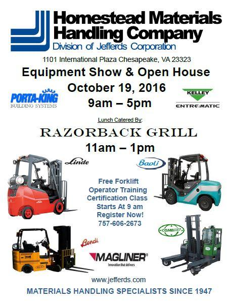Homestead Materials Handling Open House