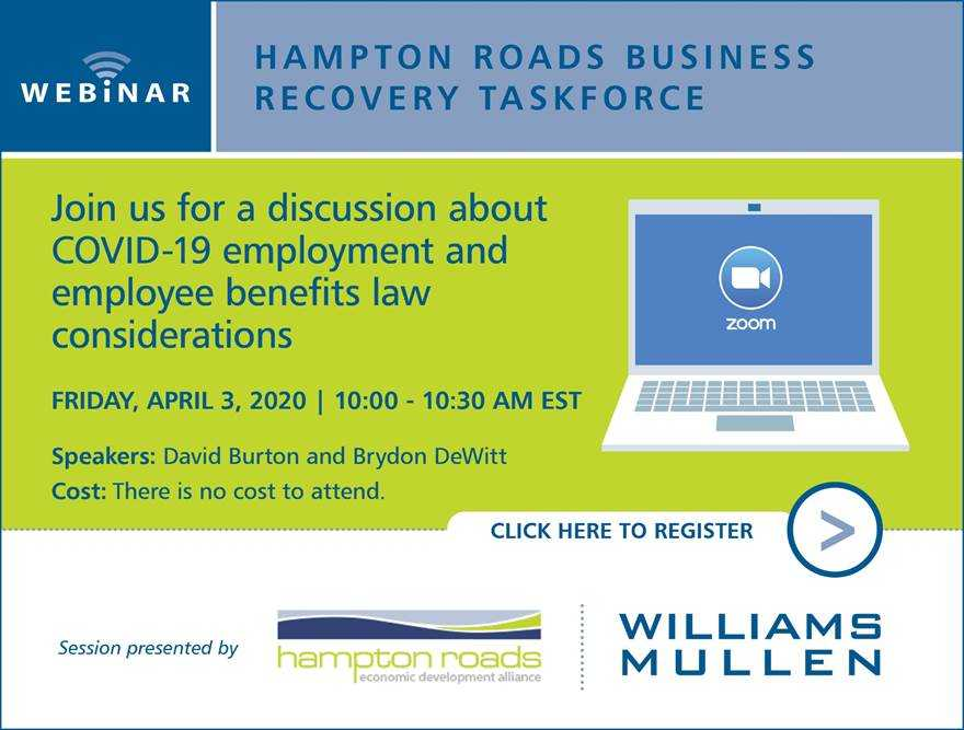 Hampton Roads Business Recovery Taskforce Hosts COVID-19 Webinar