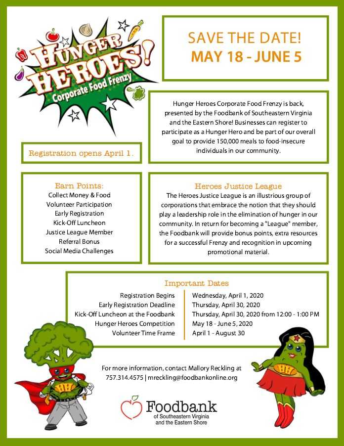 The Hunger Heroes Corporate Food Frenzy