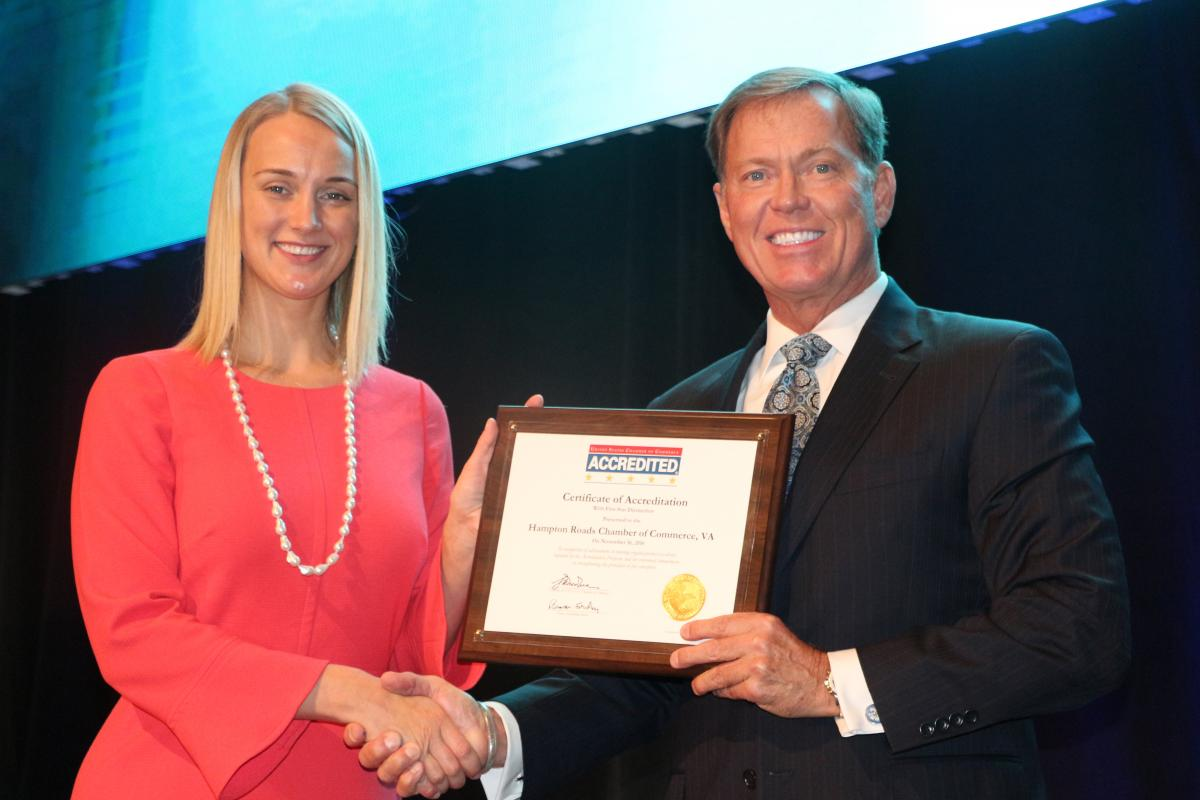 Five Star Accreditation and New Brand for Hampton Roads Chamber