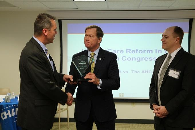 Hampton Roads Chamber President and CEO Bryan Stephens Awarded  Community Health Care Champion Award