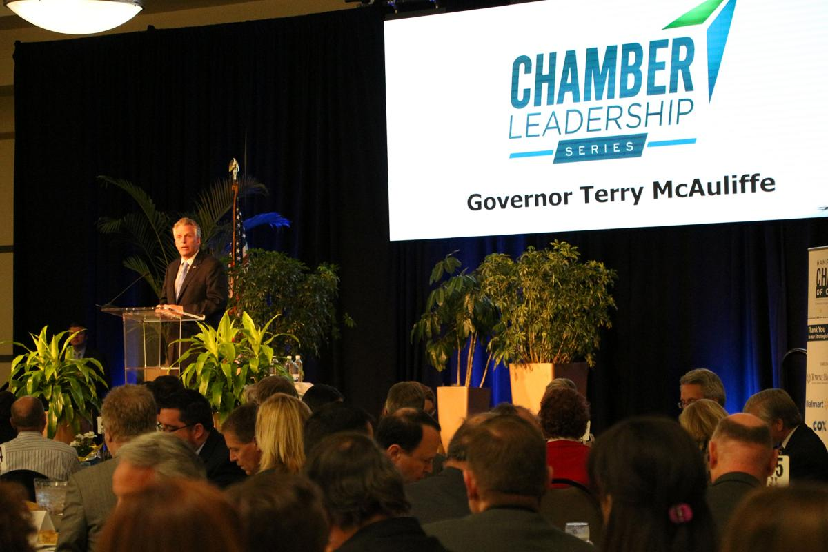 Governor Terry McAuliffe Address Hampton Roads at Chamber Leadership Series