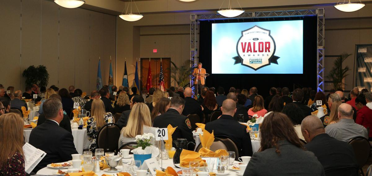 Local Police Officers, Firefighters, and EMTs Recognized at The Valor Awards