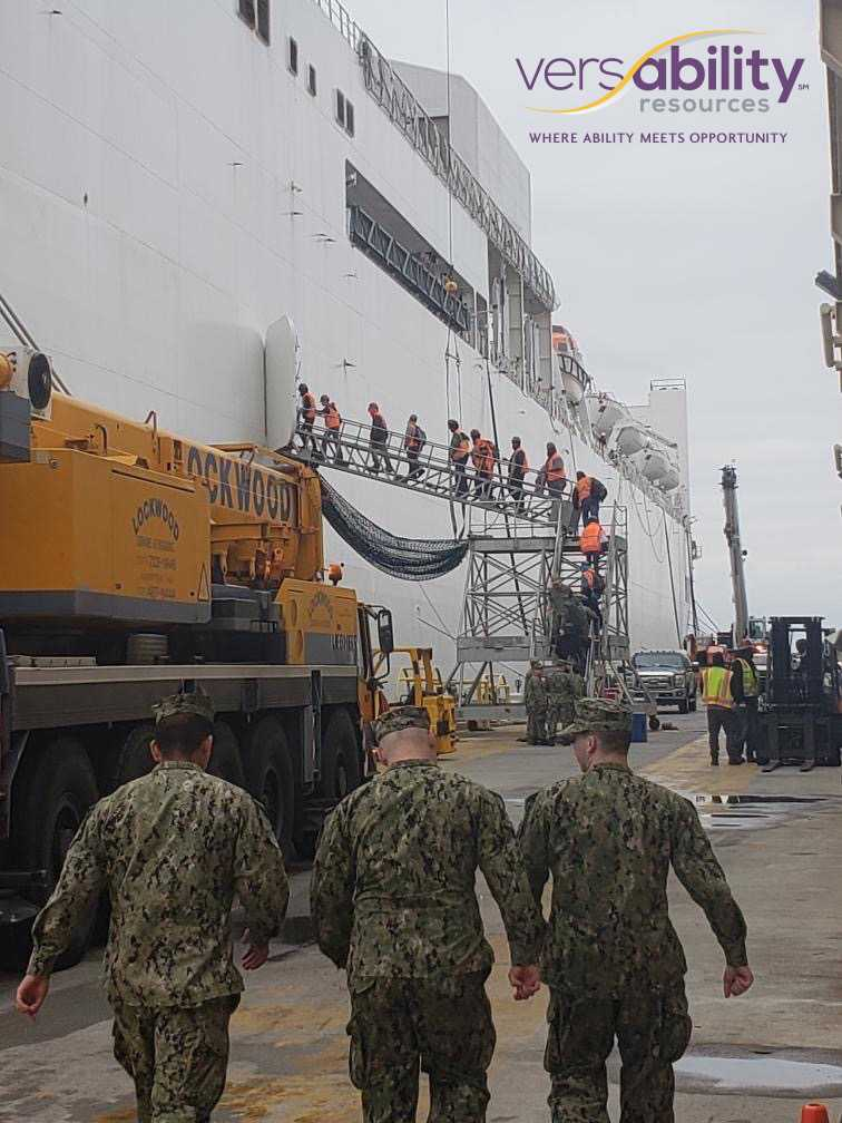 People with disabilities support the USNS Comfort mission to aid New York City