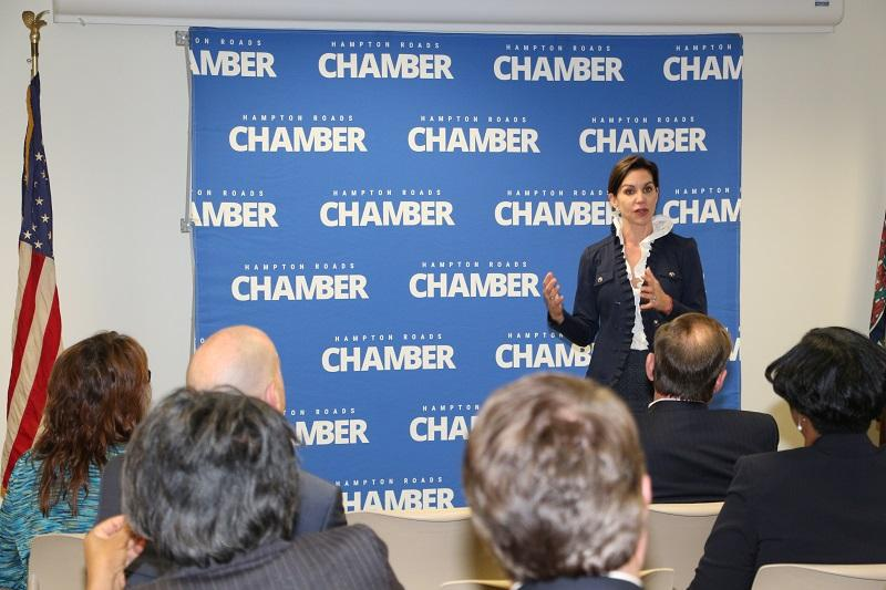 Republican Candidate for Lieutenant Governor Jill Vogel Addresses Chamber