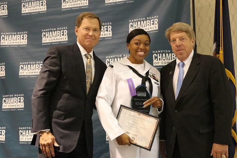 Petty Officer Second Class Breanna Coleman Receives 2016 Military Citizen of the Year Award
