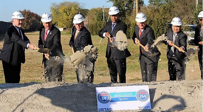 I-64, I-264 interchange improvement project breaks ground on Newtown Road