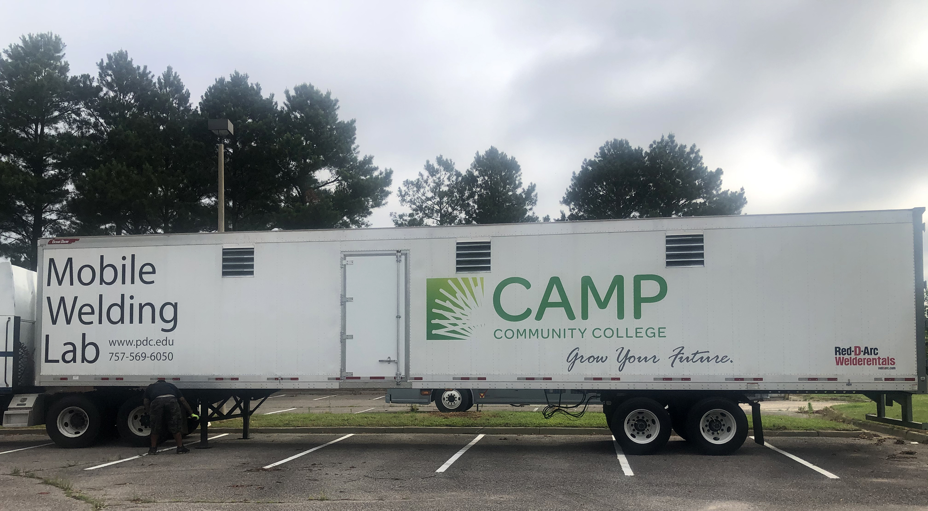 Camp workforce welding on wheels allows classroom to be brought to students