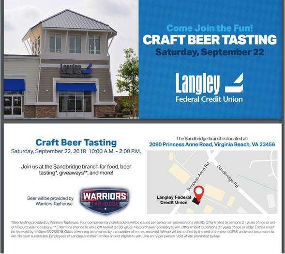 Langley FCU Craft Beer Tasting
