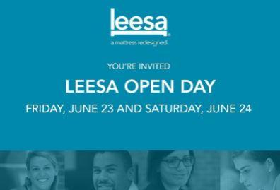 You're Invited to Leesa Open Day