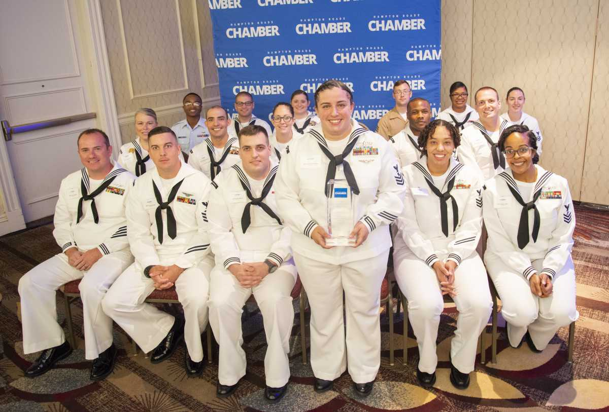 Hampton Roads Chamber recognizes Military Citizen of the Year during Fleet Week 2019
