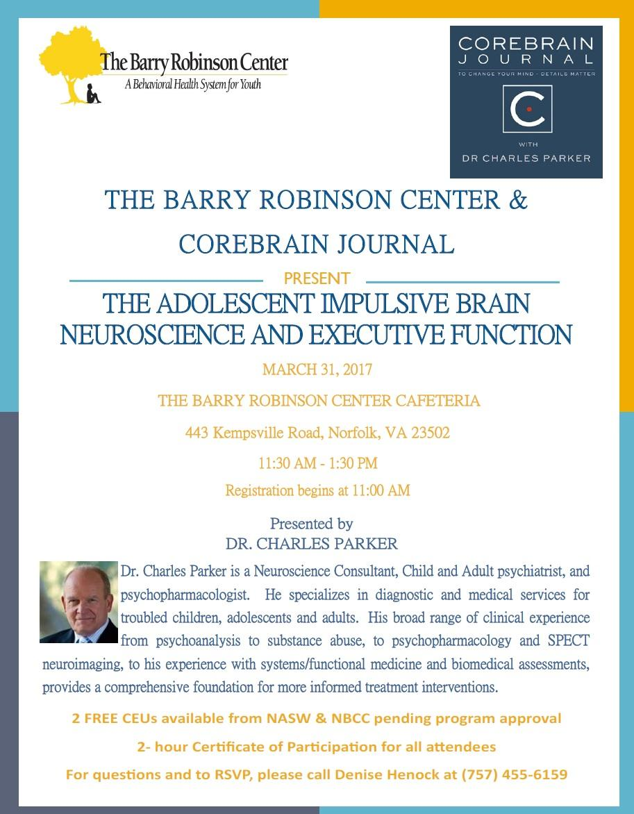 Barry Robinson Center Hosts First Lunch and Learn