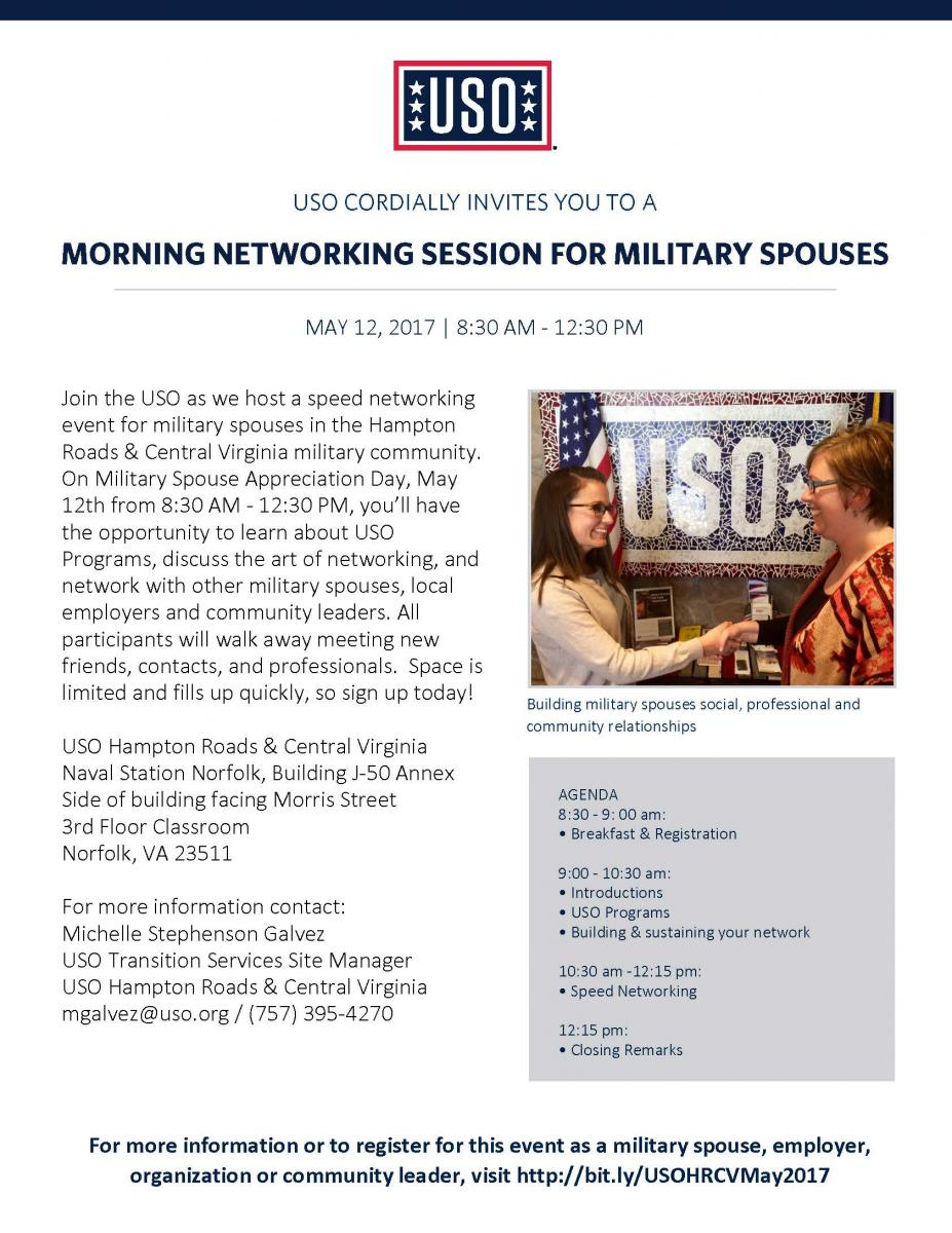 USO Military Spouse Networking
