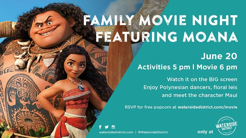 Family Movie Night Kicks Off at Waterside District