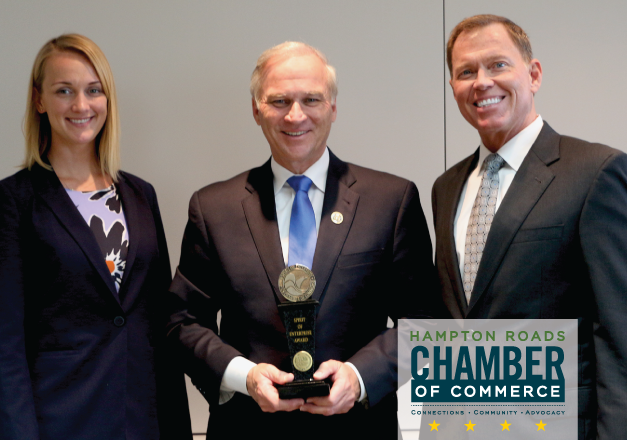 The Hampton Roads Chamber of Commerce hosted Spirit of Enterprise Award presentation for Congressman Randy Forbes