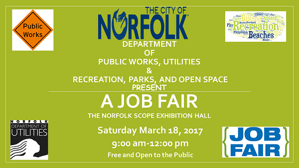 The City of Norfolk to hold Job Fair May 18th